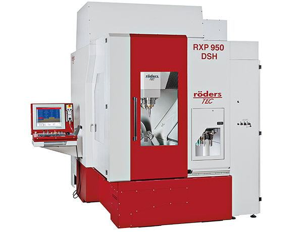 New HSC Roders 5-axis milling/grinding machine at CRP Meccanica
